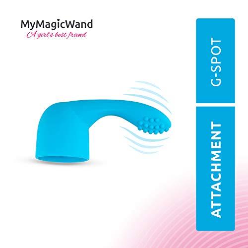 My Magic Wand Aufsatz | Vibratoren für Sie Aufsatz | Erweiterung für G-Punkt und Prostata Stimulation | Blau (Prostata Massager-stab)