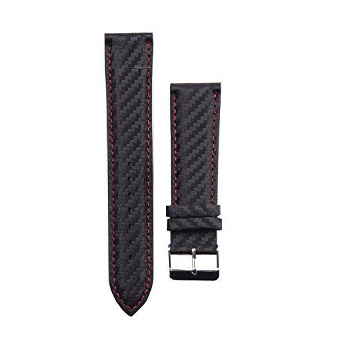 X-WATCH Smartwatch Wechselarmband 22mm Carbon red black QIN XW PRIME II