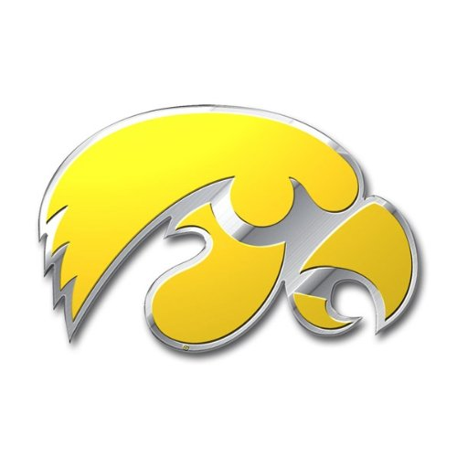 NCAA Iowa Hawkeyes Die Cut Color Automobile Emblem