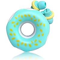 QearFun Nuevo Donut Donut Color de Caramelo Auricular En Oreja Auricular Auricular con micrófono y enrollador de cable Set Winder para teléfono inteligente Mp3