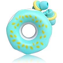 QearFun Nuevo Donut Donut Color de Caramelo Auricular En Oreja Auricular Auricular con micrófono y enrollador