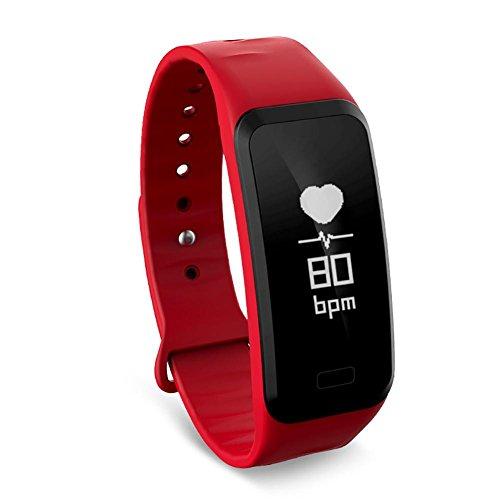 b64970441cce Flower205 Pulsera Actividad Impermeable IP67,Pulsera inteligente Presión  sanguínea Frecuencia cardíaca Paso Pulsera deportiva de salud Touch Health  ...