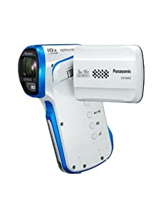 Panasonic HX-WA3EB-W Full HD 1920 X 1080 Tough Vertical Camcorder - White/Blue (16MP, 5m Waterproof, -10 C Freezeproof, Dustproof, Still Images, 18x Intelligent Zoom) 2.6 inch LCD (discontinued by manufacturer)