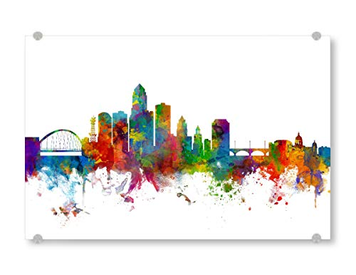 artboxONE Acrylglasbild 150x100 cm Städte des Moines Iowa Skyline - Bild United States usa City Skyline (Des Moines Skyline)