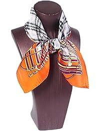 0f4188ec52c Junjiagao Foulard en soie à motif géométrique et géométrique à motifs  géométriques pour femmes ...