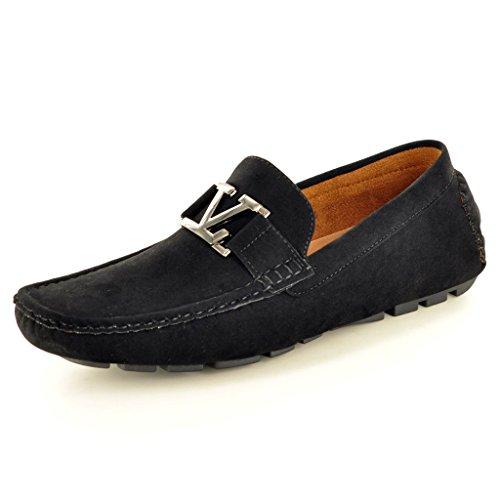 Generic , Herren Mokkasins schwarz schwarz, schwarz - schwarz - Größe: 42.5 (Schwarze Herren Dress Shoes Loafers)