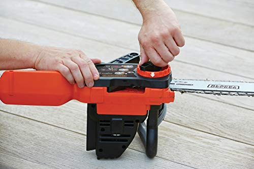 Black+Decker Li Ion Akku-Kettensäge 18V GKC1825L20 mit Akku und Ladegerät / Ideal für Holz- & Gartenarbeiten / 25 cm Schwertlänge - 9