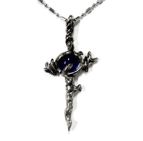 Sword motif necklace pendant cross K anime cosplay costume props accessories fan goods, fan items in Crans- from (flame) Suo Mikoto Damocles of [K] red (japan import)