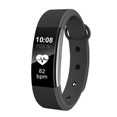 Bingo F1 Waterproof Smart Fitness Band with Heart Rate Monitoring for All Smartphones (Black)