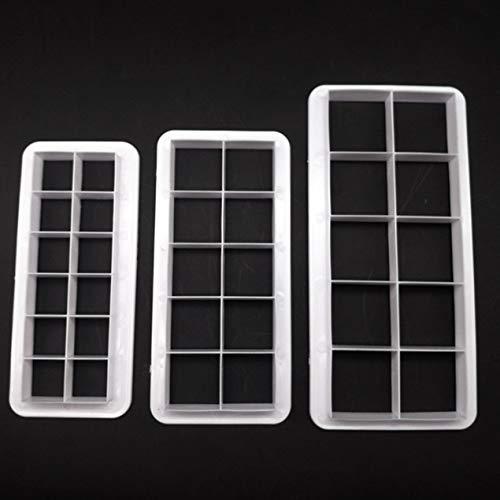 3 stücke Quadrat Geometrische Schneider Fondant Ausstecher Geometrie Backform Fondantform Kuchen Dekorieren Tools Backen