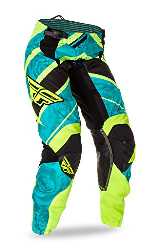 Fly Motocross/MTB 2016 Pantaloni Kinetic Lady - teal-néon, Donna, verde, 3/4 - 26 (EU 34)