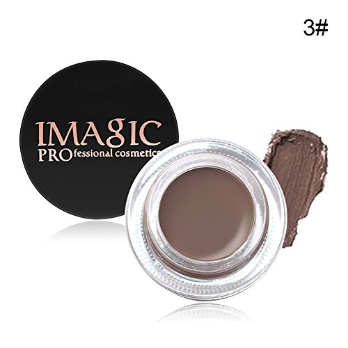 Augenbrauen Creme,Augenbrauen Gel Eye Brow Gel OYOTRIC 6 Farben Dauerhaft Wasserdichte Gel Mit Augenbrauen Pinsel Makeup Tools