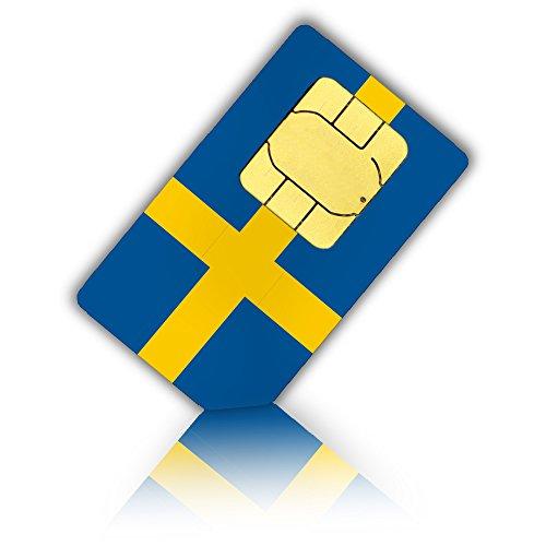 SIM Karte für Schweden + 2GB mobiles Highspeed Internet, Standard, Micro & Nano SIM - schwedische Prepaid SIM Karte