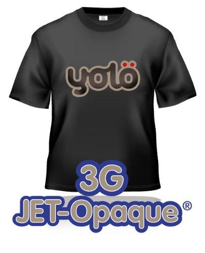 yolö creative 10 fogli di formato a4 di trasferimento 3g jet-opaque a getto d'inchiostro termico carta t-shirt/trasferimenti
