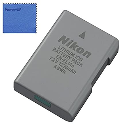 Nikon EN-EL14a Lithium Ion Rechargeable Battery for Nikon Df, D3100, D3200, D3300, D5100, D5200, D5300, D5500 Digital SLR - COOLPIX P7000, P7100, P7700, P7800 Digital Camera (Bulk Packaging)
