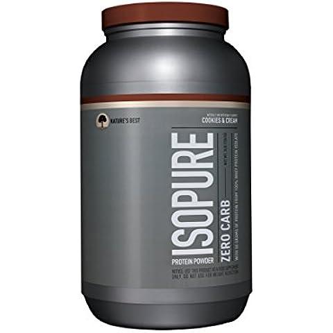 Isopure Zero Carb Protein Powder, Cookies & Cream, 3 Pounds