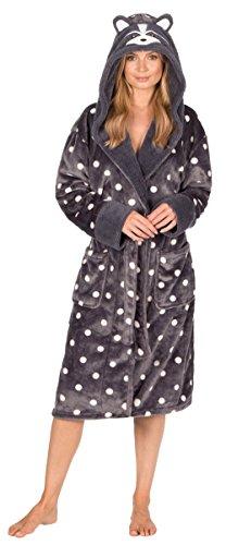 femmes animal costume Capuche Robe de chambre hiver chaud polaire confortable chausettes - Raton Laveur, XL (20-22)