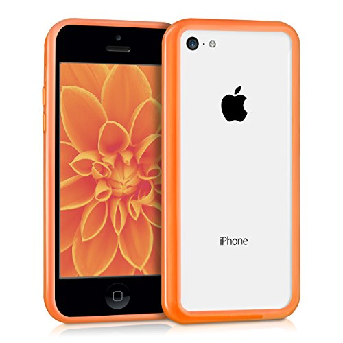 kwmobile TPU Silikon Bumper Hülle für Apple iPhone 5C - Protection Rahmen Schutzhülle Case Cover in Pink .Orange