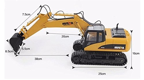 RC Baufahrzeug kaufen Baufahrzeug Bild 1: FM1550 | Ferngesteuerter Kettenbagger mit voller Funktion, Bagger mit Fernsteuierung, ferngesteuert mit Akku und Ladegerät*