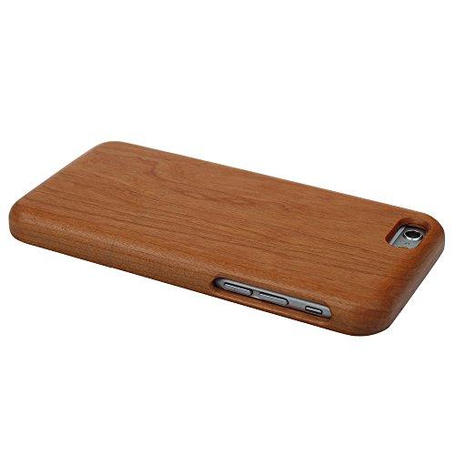 Hülle für iPhone SE 5 5S Forepin® Rosenholz Case Schutzhülle Echtem Holz Schutzhülle Hart Cover Bumper Rahmen Handyschale, Löwe Kirschholz