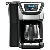 Black & Decker CM5000B 12-Cup Mill and Brew Coffeemaker, Black