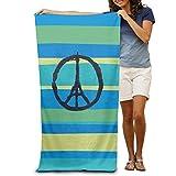 QUEEKINWANG Pray For Paris Beirut Humanity Beach Towels For Adults
