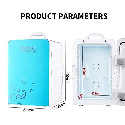 Thermoelektrischer Mini-Kühlschrank, Kühl- und Thermostat, Wechsel- und Gleichstrom, 20 Liter / 30 Dosen - Kühl- und Heizsystem - Kompakt und tragbar - Geeignet für Auto, Büro oder Picknick im F