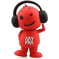 818-TEch no4400080016 Hi-Speed 2.0 USB PenDrive 16GB divertente musica DJ Radio FM rosso