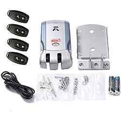HoganeyVan Control de acceso Cerradura Control remoto inalámbrico Cerradura electrónica Cerradura invisible de entrada sin llave Puerta con 4 controles remotos Control de la APLICACIÓN del teléfono