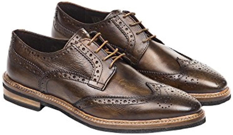UominiItaliani   Mann elegante lederne Spitze Oben Schuhe Made in Italy   Mod. 1394 594