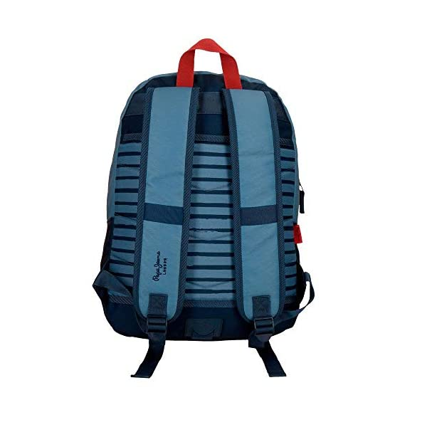 41YZCL1dfdL. SS600  - Mochila 44 cm doble cremallera adaptable a carro Pepe Jeans Yarrow