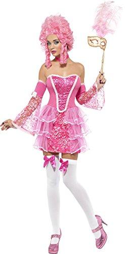 Smiffys, Fever, Damen Marie Antoinette Sparkle Kostüm, Kleid, Ärmel und Halsband, Größe: ()