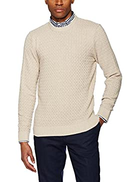 Hackett London Basket Stitch Crew, Chaqueta Punto para Hombre