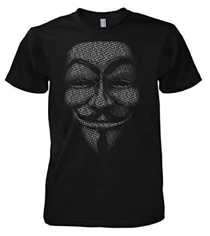 Geek Hacker - Anonymous Slogan Mask 701475 T-Shirt 001 XL