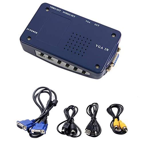 BlackEdragon Plug & Play Portable Größe VGA zu RCA Switch Box PC zu TV AV Monitor Konverter -