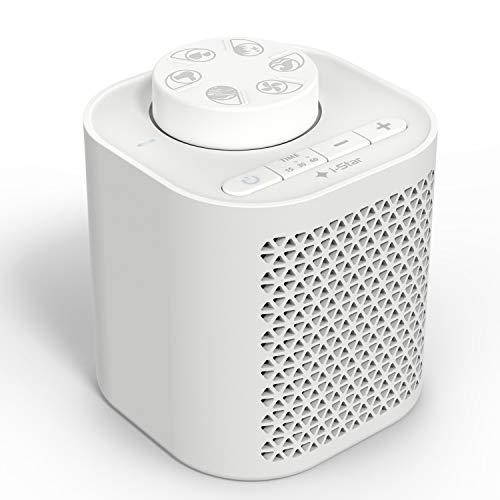 Generatore Rumore Bianco, White Noise Machine Portatile per il Sonno con 6 Suoni Naturali per Lenitivo del Bambino, Terapia del Suono per Adulti, con Timer - Batteria o Alimentazione a rete