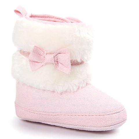 Clode® Kleinkind Baby Mädchen Warm halten Doppelstock-Quasten Schneestiefel Weiche Sohlen Krippe Schuhe Kleinkind-Stiefel (11/0 ~ 6 Monate,