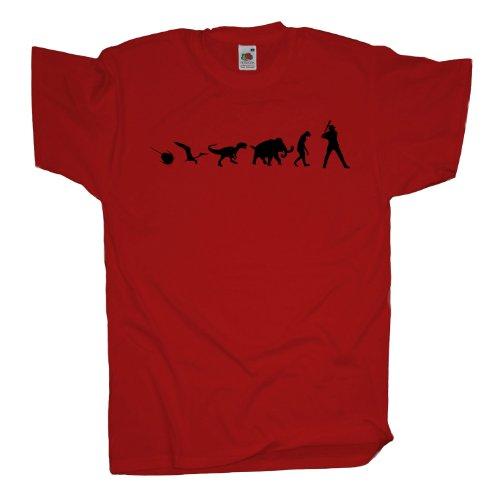 Ma2ca - 500 Mio Years - Baseball T-Shirt Red