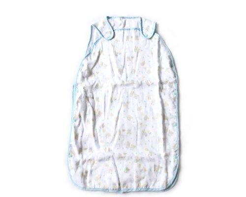 BONAMART ® Blue 77cm Newborn Baby Infant Girl Boy 6 Layer Soft Gauze Muslin Swaddler Blanket Summer Sleeping Bag 100% cotton