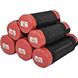 GORILLA SPORTS Fitness Sandbag 5-30 kg Schwarz/Rot- Power-Bag mit Sand 10 KG
