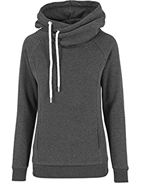 Urban Classics Pullover Raglan High Neck Hoody-suéter Mujer