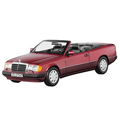 Mercedes Benz W/A 124 - 300 CE -24V Cabrio Almadinrot mit abnehmbaren Verdeck Modellauto Maßstab 1:18 Metall NOREV mit beweglichen Teilen -
