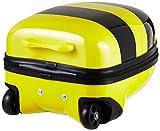 HAUPTSTADTKOFFER – For Kids – Kindergepäck, Kinderkoffer, Tierkoffer Biene, 24 Liter, Mehrfarbig (Gelb/Schwarz) - 4