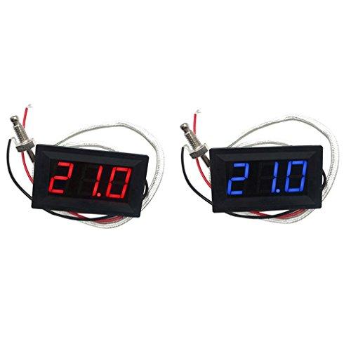 Dolity 2 Stk. -30-800 ℃ Grad Celsius Thermometer Digital-LED Auto-Temperatur-Messinstrument Temperaturgenauigkeit: ± 0,3 ℃ Grad Celsius