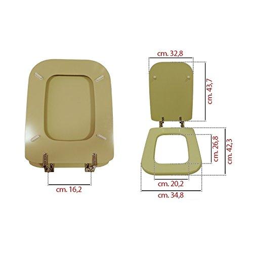 Copriwater wc sedile compatibile conca champagne ideal standard 42x33,5x16