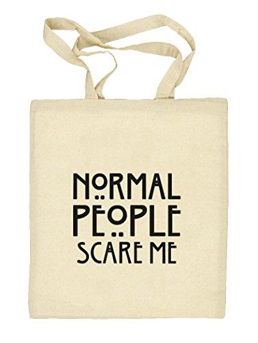 Shirtstreet24, AHS - Normal People Scare Me, Natur Stoffbeutel Jute Tasche (ONE SIZE) Natur