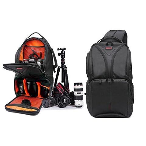Amcool Kamerarucksäcke für Canon, Luxus Wasserdicht DSLR Fall Kamera Tasche(Orange)