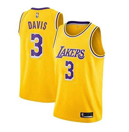 2019 Trikot Herren Sport Jersey Lakers #3 Anthony Davis Basketball Anzug Basketball-Bekleidungssets Für Herren Tops Weste Für Basketballfans (S - XXL)