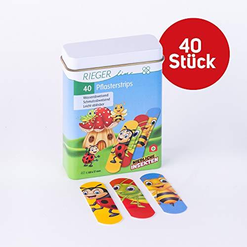 Kinderpflaster niedliche Insekten Zinnbox 40 Pflaster