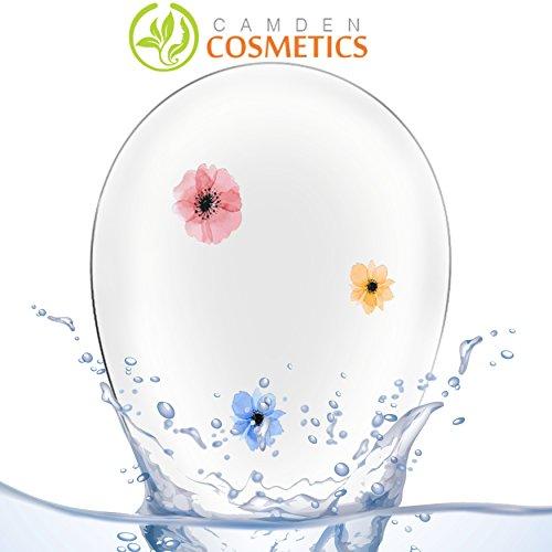 Silikon Makeup-Schwamm – handgemachter BlendingSchwamm von Camden Cosmetics mit echten Blumen im Material: Weicher und sicherer Blending-/...